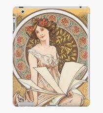 HD. Champenois Calendar, Alphonse Mucha HIGH DEFINITION (original colors) iPad Case/Skin