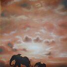 Elephant Silhouette by Cherie Roe Dirksen