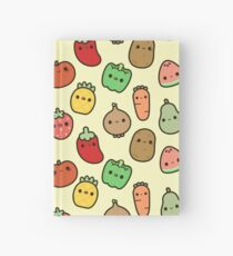 Cute fruit and veg Hardcover Journal