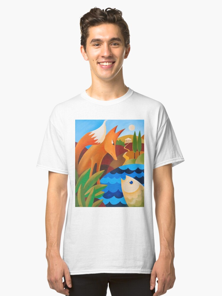 Alternate view of THE FOX AND THE FISH Classic T-Shirt