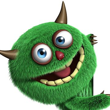 Green Furry Monster by procrest