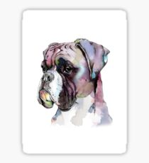 The Boxer Dog  Sticker