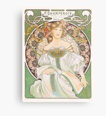 HD. F. Champenois, by Alphonse Mucha HIGH DEFINITION (Original colors) Metal Print