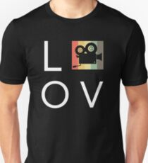 Liebe Retro Vintage Filmkamera | Filmemacher Slim Fit T-Shirt