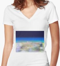 Top of the world Women's Fitted V-Neck T-Shirt