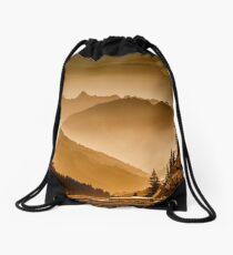 arlberg pass landscape abendstimmung Drawstring Bag