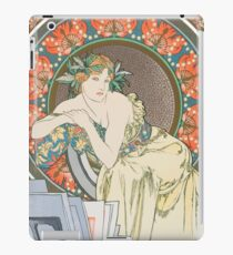 HD. Woman with Poppies, by Alphonse Mucha (1898) HIGH DEFINITION (Original colors) iPad Case/Skin