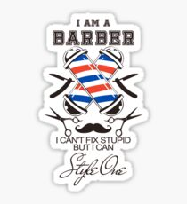 I am a Barber Sticker