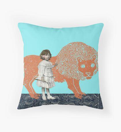 Pet Lion Throw Pillow