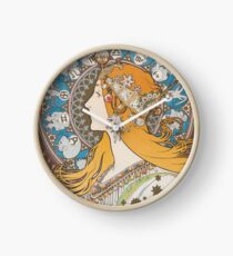 HD. Zodiac (First version), by Alphonse Mucha (1896) HIGH DEFINITION  Clock