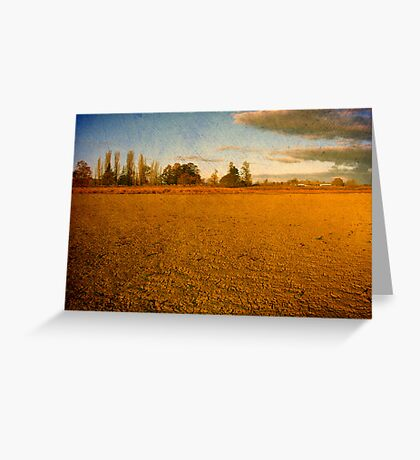 Parched - Dangars Lagoon, Northern Tablelands, NSW, Australia Greeting Card