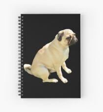 Grumpy Pug Spiral Notebook