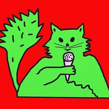 Cat News Reporter by KenKronberger