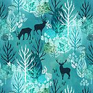 Emerald forest deer by adenaJ