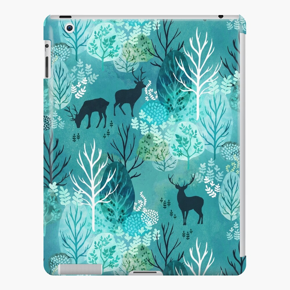 Emerald forest deer iPad Case & Skin