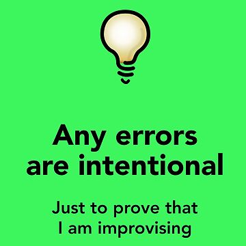 Intentional errors (Light) by solublepeter