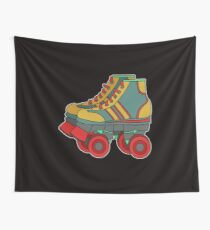 Classic & Cool Tshirt Design Roller Blades Wall Tapestry