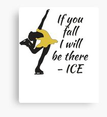 Beutiful and Charming Tshirt Design Ice Skater Canvas Print