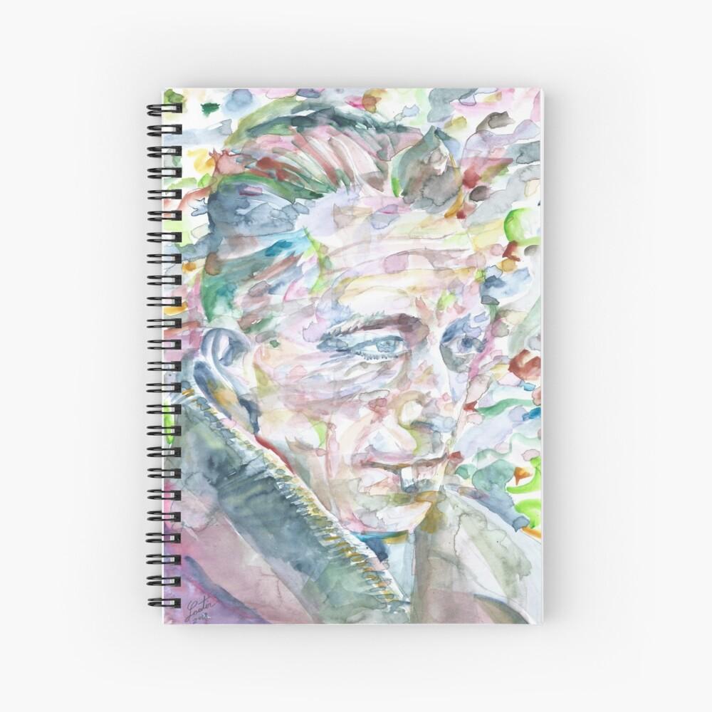 ALBERT CAMUS - Acuarela portrait.3 Cuaderno de espiral