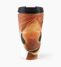 HoRSe PRiNT ' GINGER NUT ' HAPPY HORSE BY SHiRLeY MacARTHuR Travel Mug