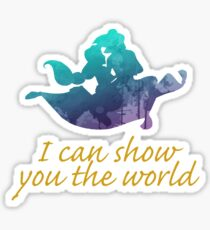 I can show you the world Inspired Silhouette Sticker