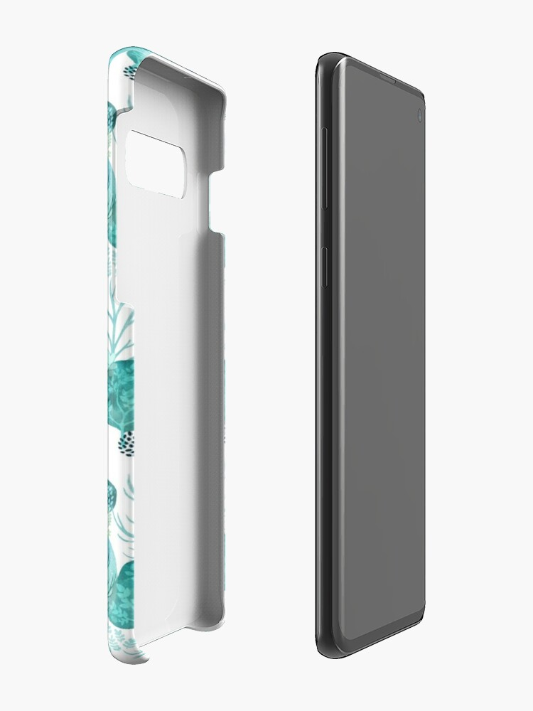 Alternate view of Emerald forest deer on white Case & Skin for Samsung Galaxy