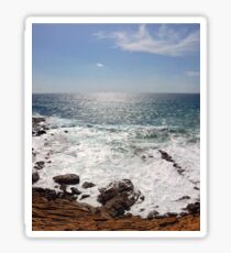Sea and Sardinia - rocks and waves Sticker