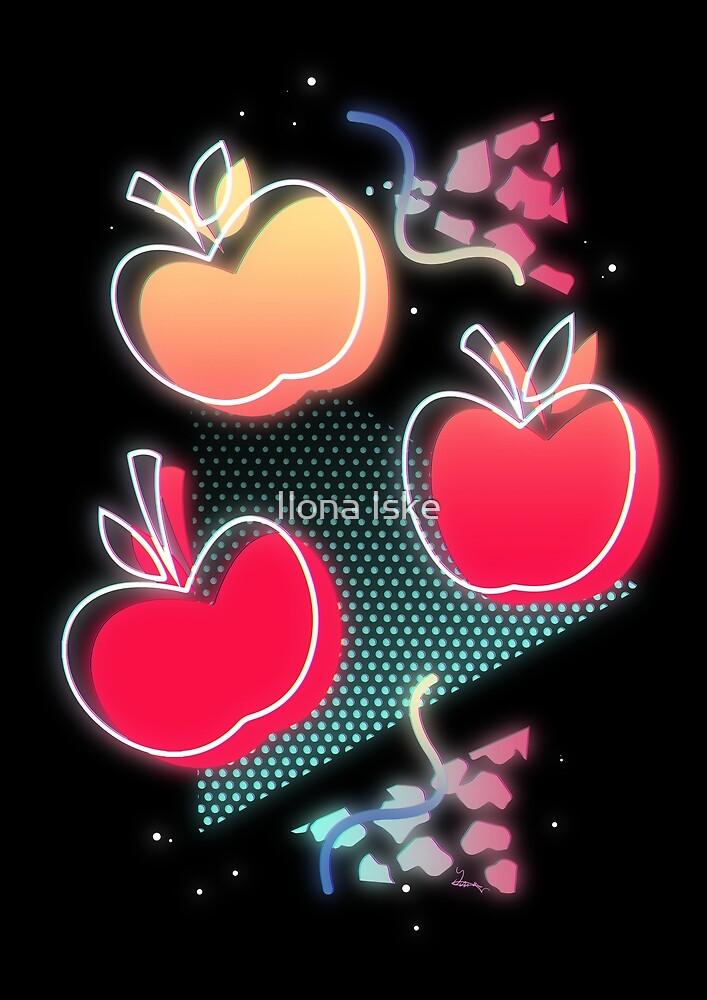 Synthwave Applejack Cutie Mark by Ilona Iske
