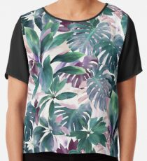 Blusa Tropical Emerald Jungle en tonos frescos y luminosos
