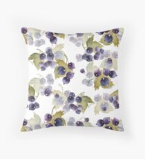 Black currant Throw Pillow