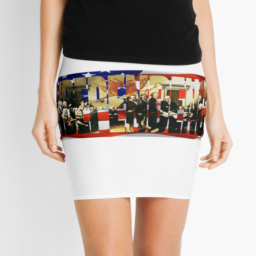 Independence Day Mini Skirt Front