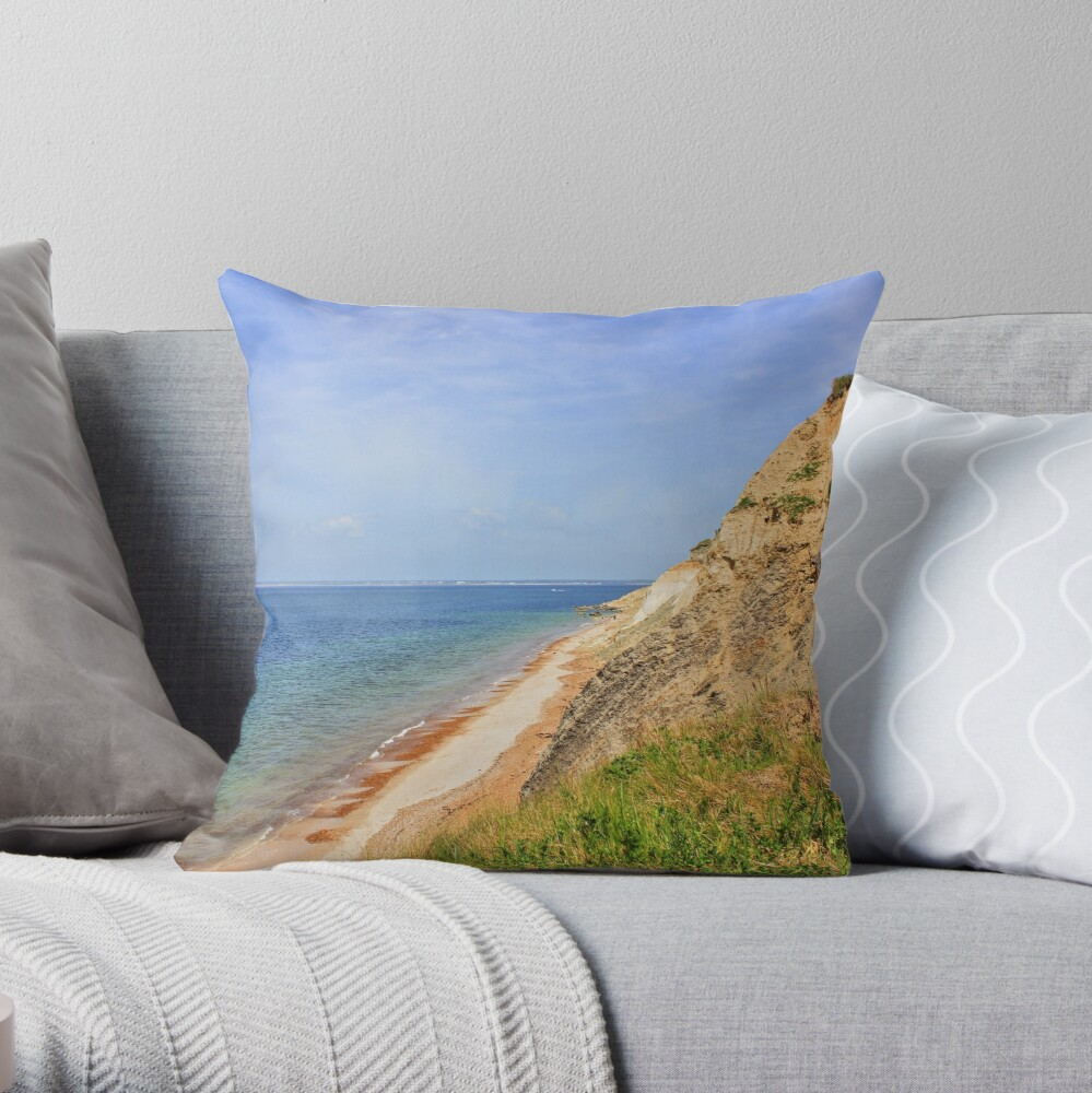 Cliff Side Throw Pillow