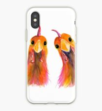 Hens Chickens PRiNT ' HARRIET & HUMBUG 2 ' by Shirley MacArthur iPhone Case