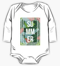 Summer palm trees nature One Piece - Long Sleeve