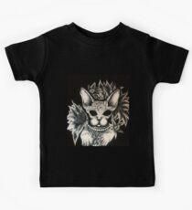 Dunkle Katze Kinder T-Shirt