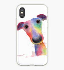 WHiPPeT GReYHouND DOG 'HANK' BY SHIRLEY MACARTHUR iPhone Case