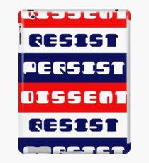 Dissent - Resist - Persist iPad Case/Skin