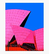 Tickled Pink Sydney Opera House Photographic Print