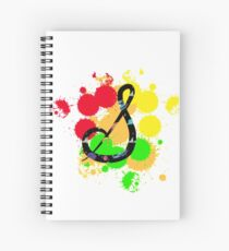 Lettering decorated in a whimsical way. Cursive letter s. Spiral Notebook