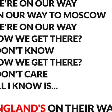 We're on our way - England (Russia World Cup 2018) by AforAwesome