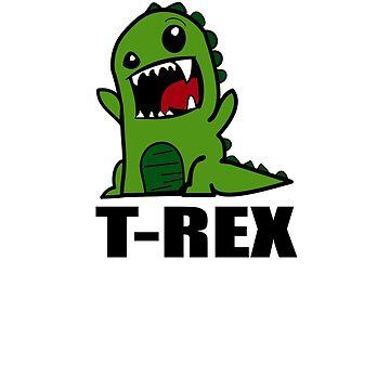 Dinosaur T Rex T-shirt by Washingtonsou