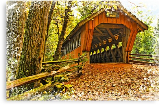 Covered Bridge,Little Hope Wisconsin #2 by JohnDSmith