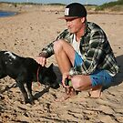 30. Chris & his Cattle-Staffy dog Bluey by Cathie Brooker