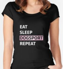 Repeat dog sports Women's Fitted Scoop T-Shirt