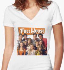 Full house case Women's Fitted V-Neck T-Shirt