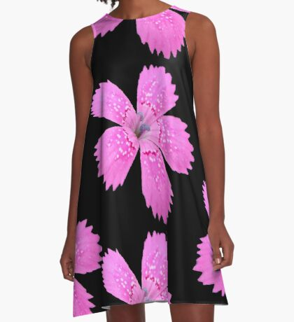 eine schöne Blume in der Farbe pink, Sommer, pastell A-Linien Kleid