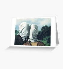 René Magritte – The Lovers II Greeting Card