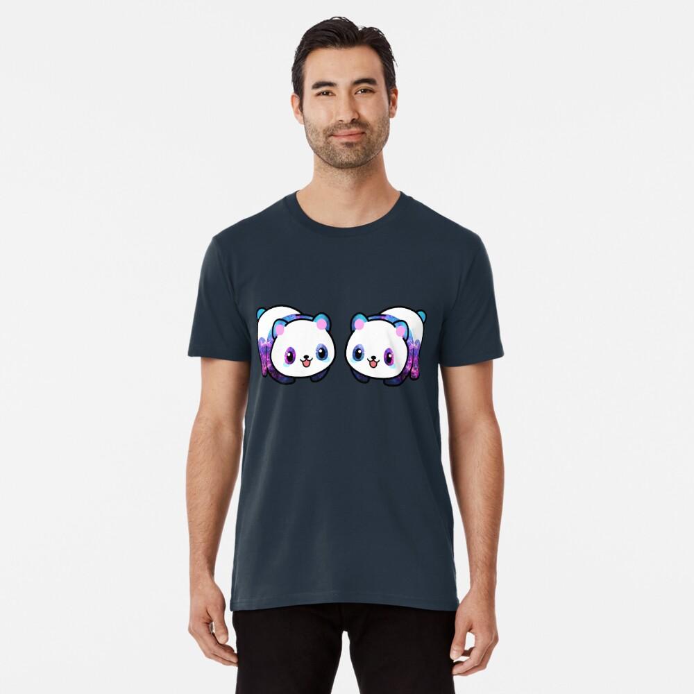 Patrón Kawaii Galactic Mighty Panda Camiseta premium