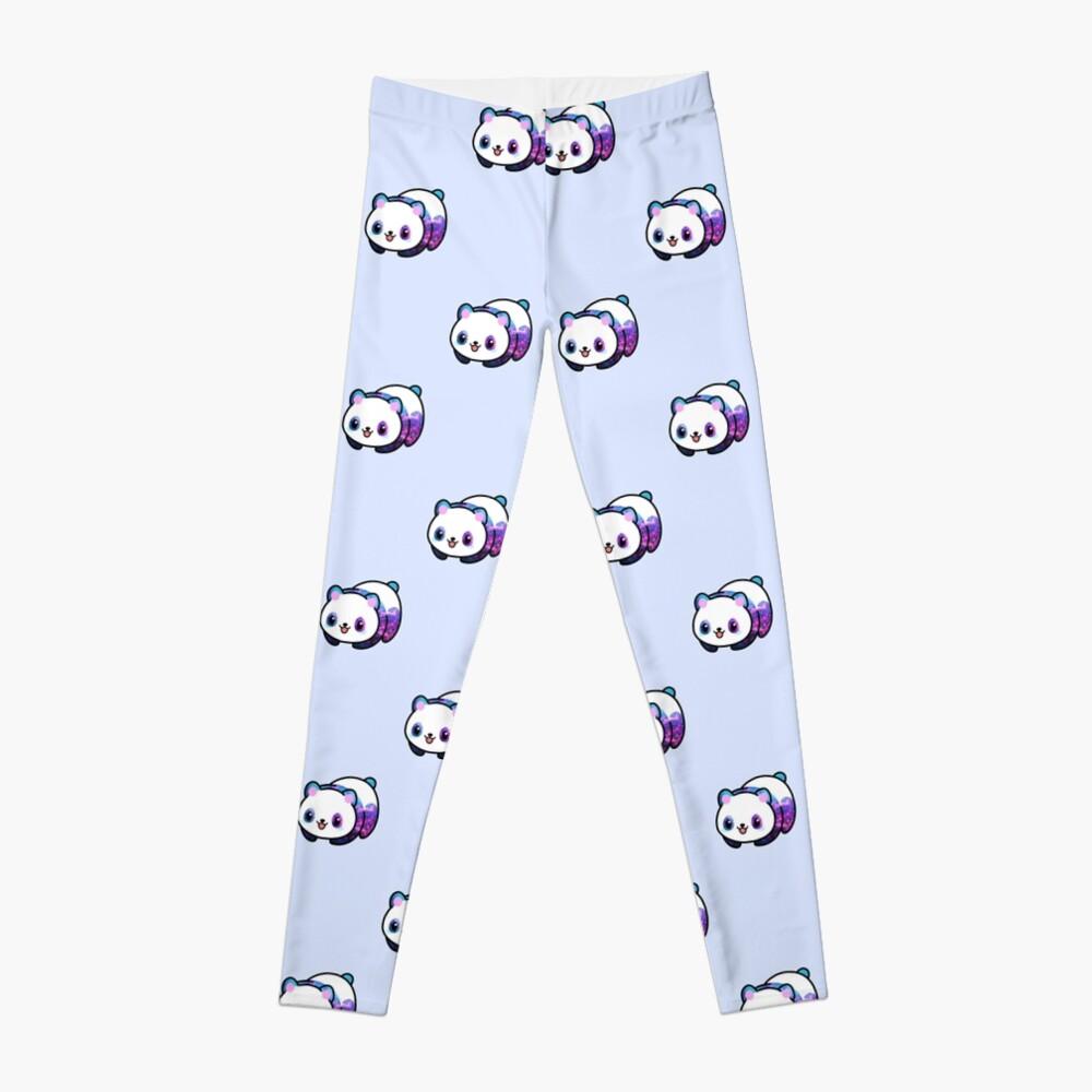 Patrón Kawaii Galactic Mighty Panda Leggings