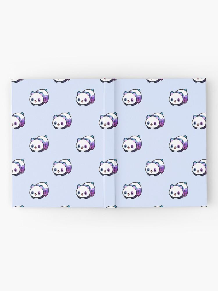 Vista alternativa de Cuaderno de tapa dura Patrón Kawaii Galactic Mighty Panda